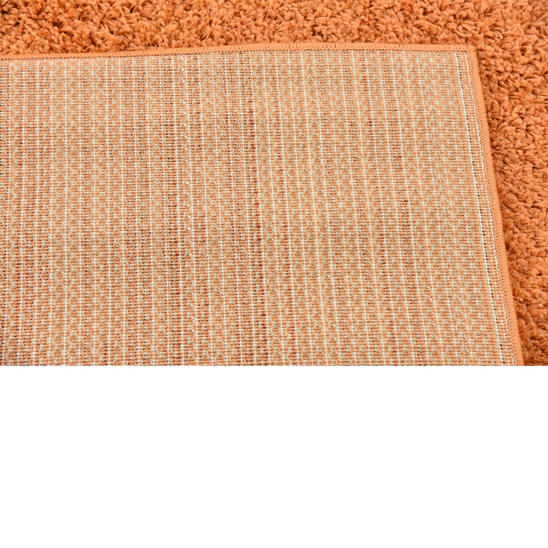 Plain soft shaggy area rugs 9 39 10 x 13 39 0 orange solid for Soft area rugs