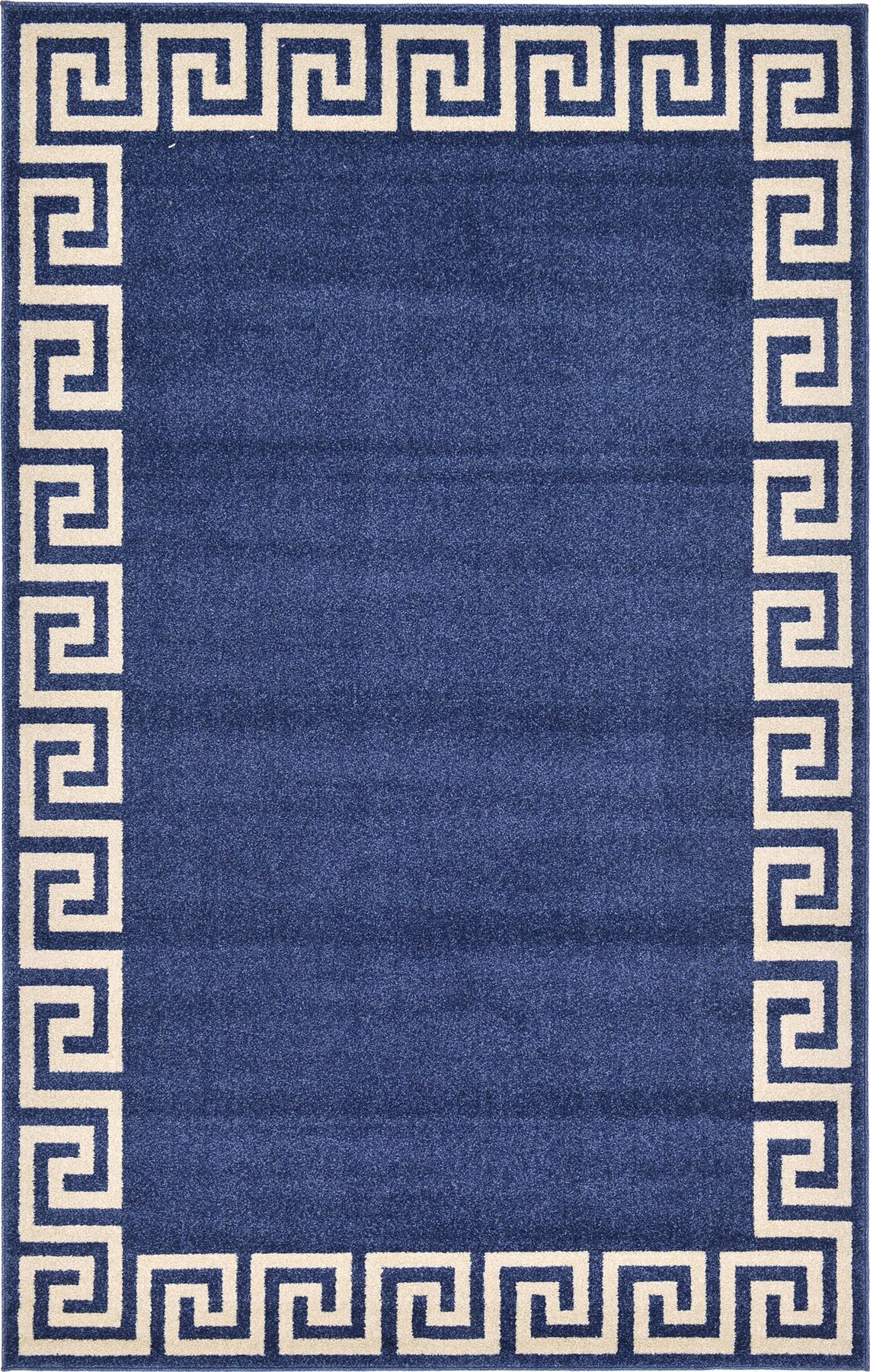 Modern rug greek key rug floor mat area rugs contemporary for Area carpets and rugs