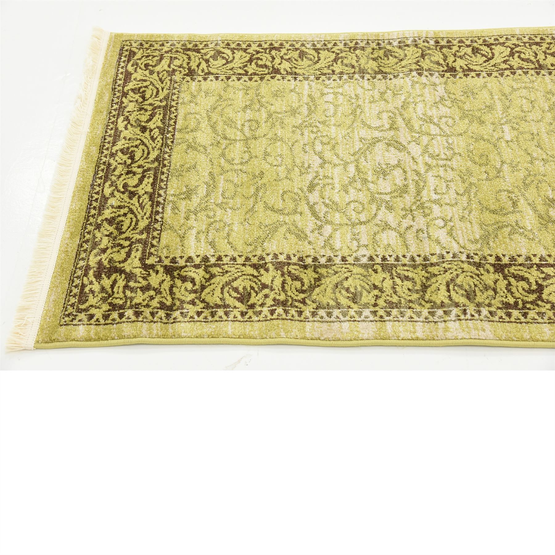 Traditional Oriental Floral Area Rugs 2' 7 X 10' 0 Green