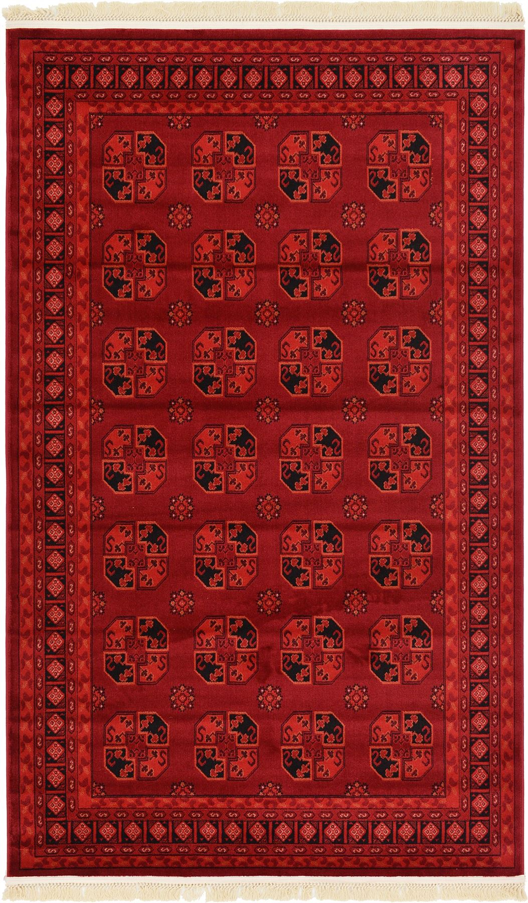 Traditional red rug new area rug oriental persian classic for Area carpets and rugs