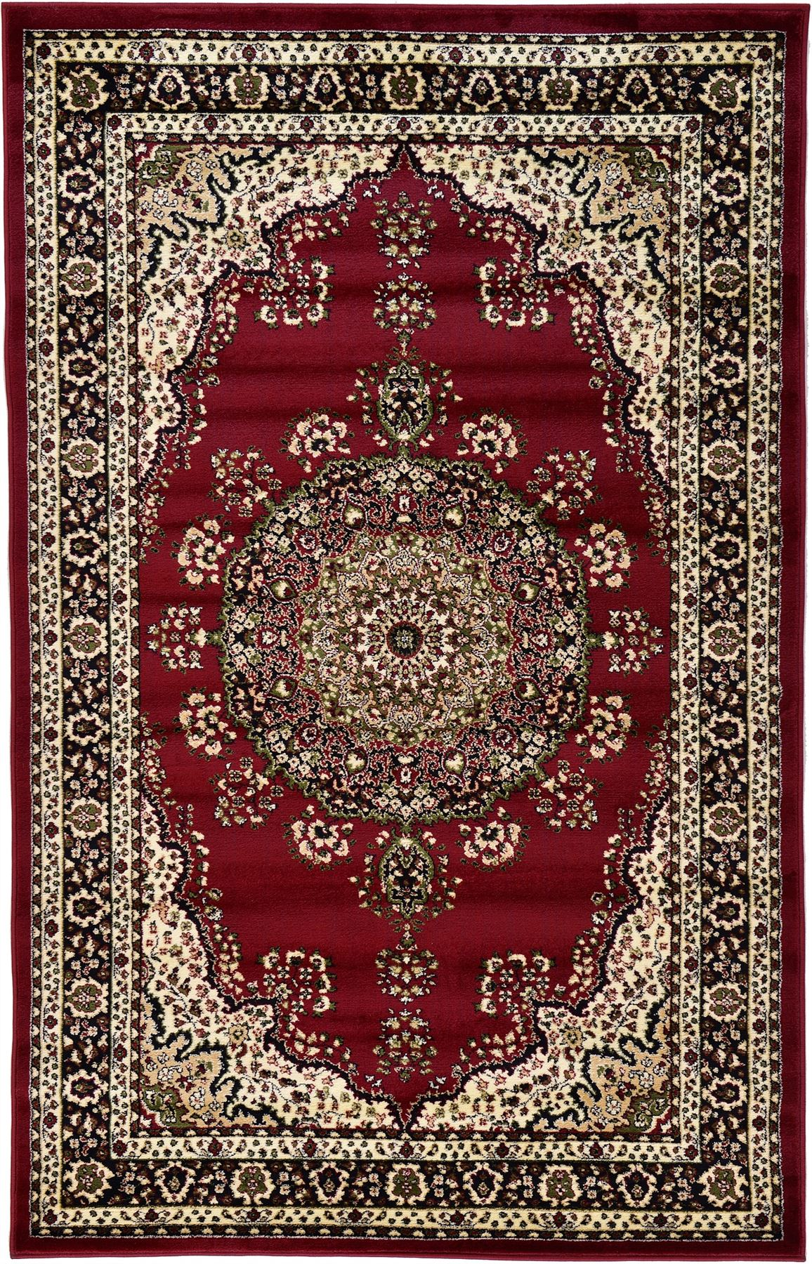 Persian Kashan Design Rugs Traditional Area Rug Medallion