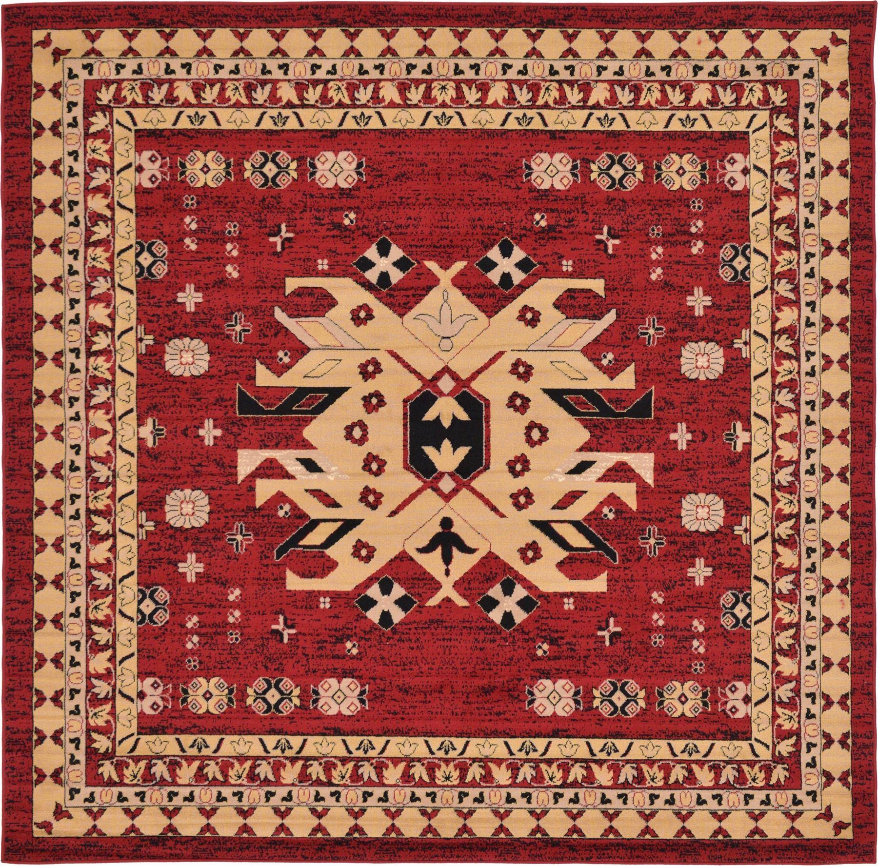 Multi Color Persian Heriz Design Rug Traditional Soft