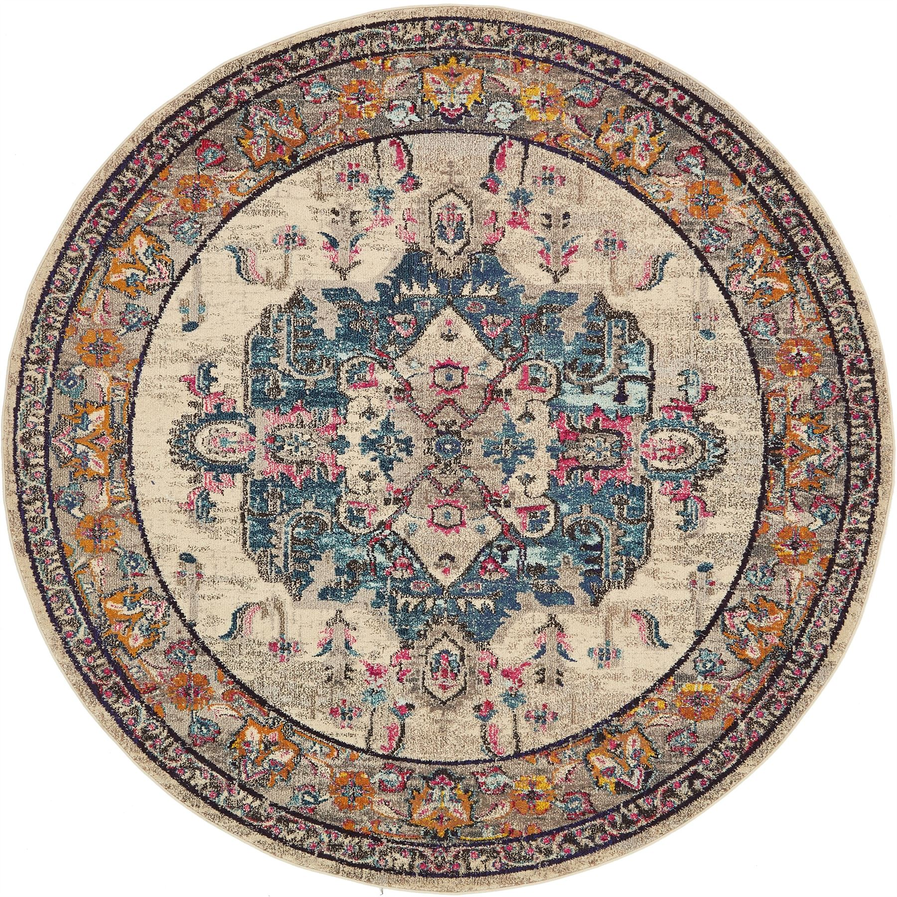 Modern Rugs Vintage: Medallion Traditional Carpets Over-dyed Vintage Modern