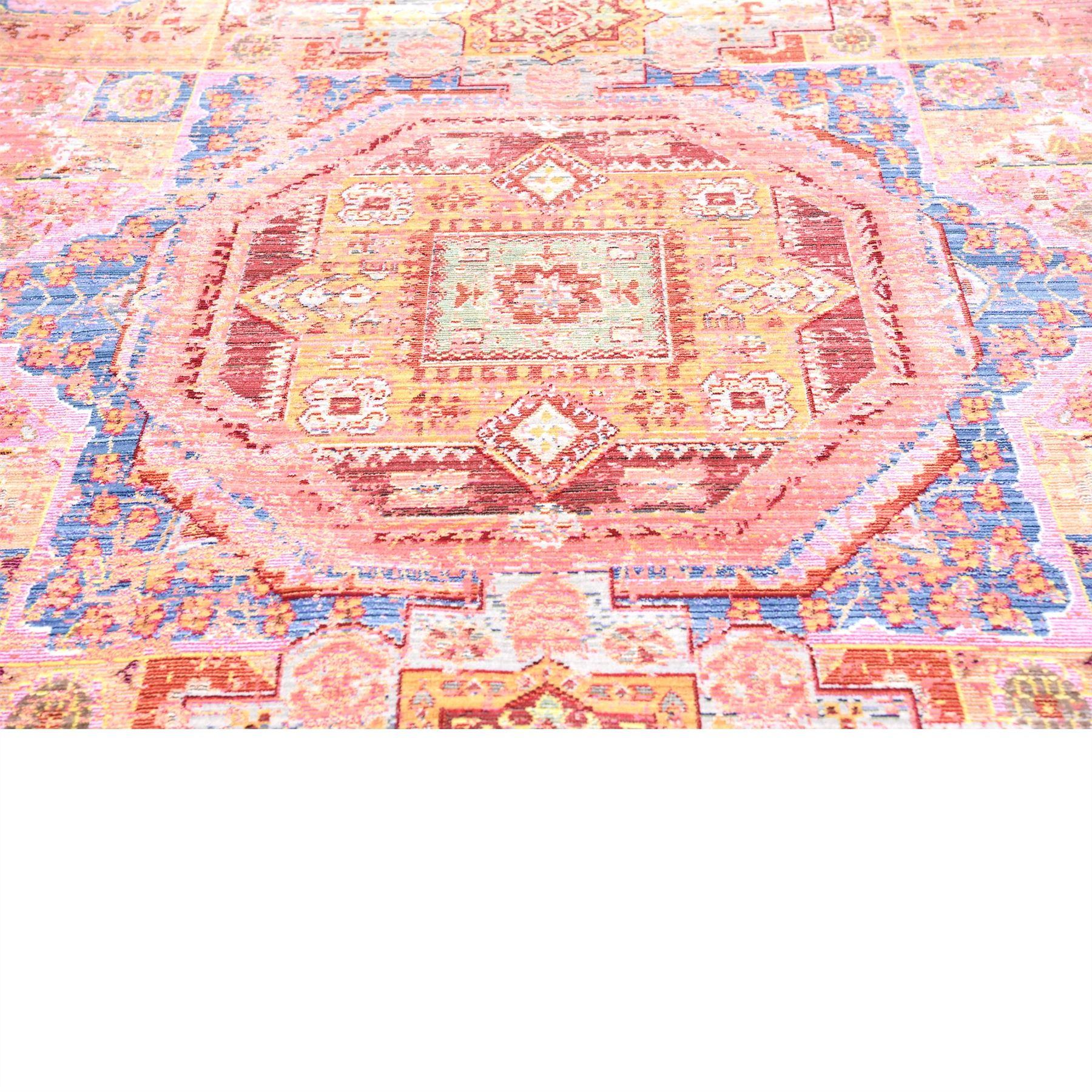 Modern Peach Rug Floor Mat Area Rugs Contemporary Carpet