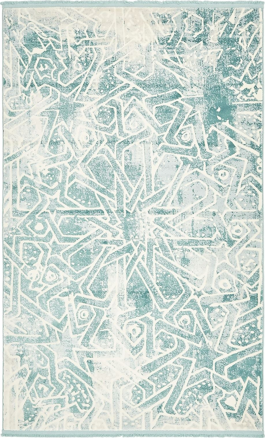 Abstract Style Floor Carpet Home Area Rug Over Dyed