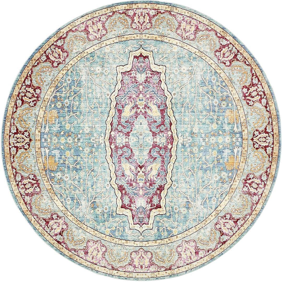 Area Rug Floral Medallion Carpet Over-dyed Carpets