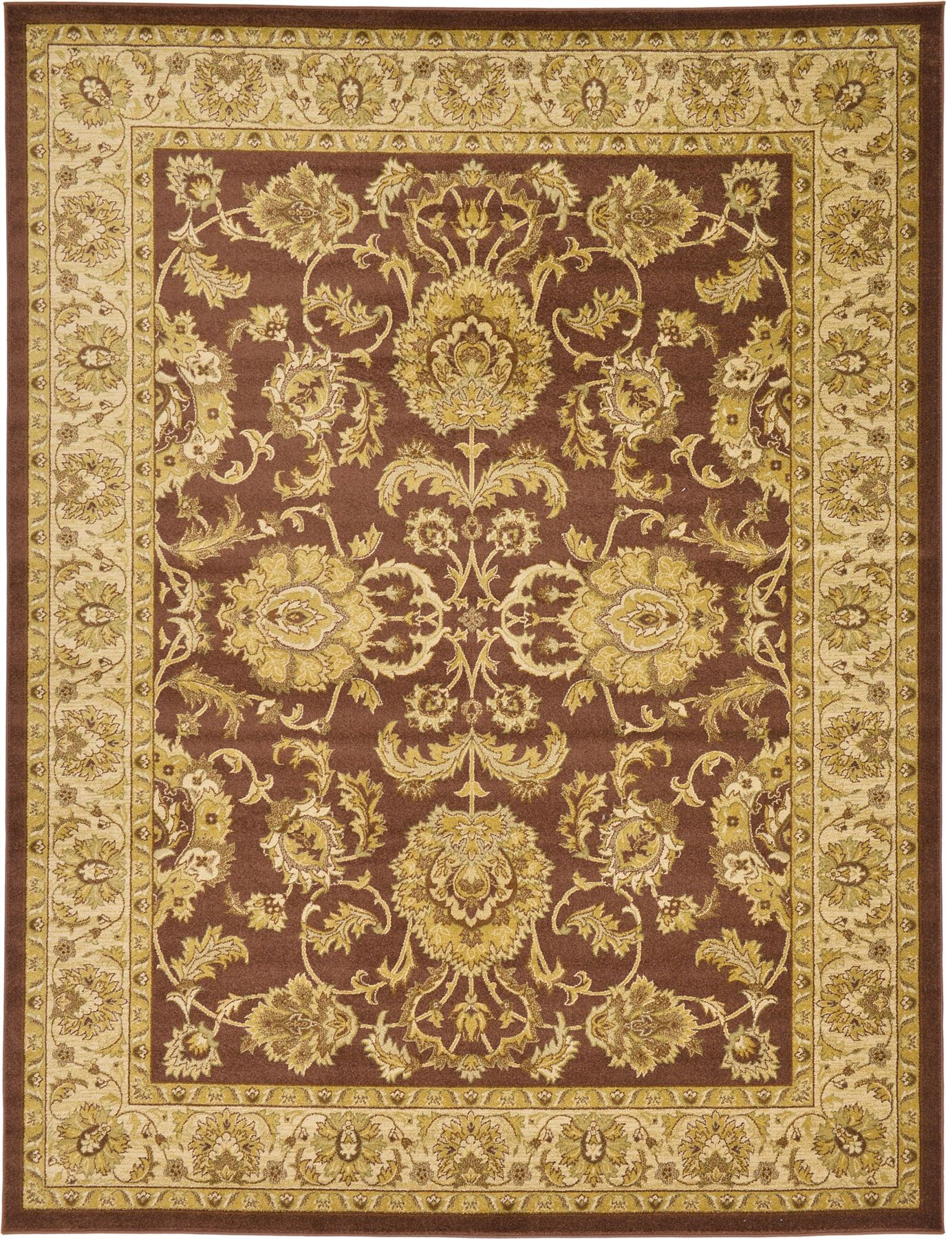Classic rug brown traditional rugs persian oriental area for Oriental rug
