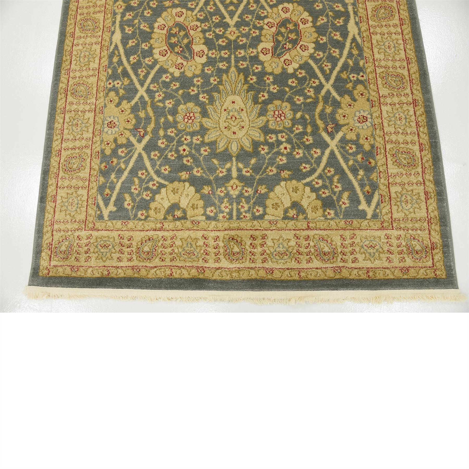 Traditional Oriental Persian Style Rugs Light Blue 4' X 4