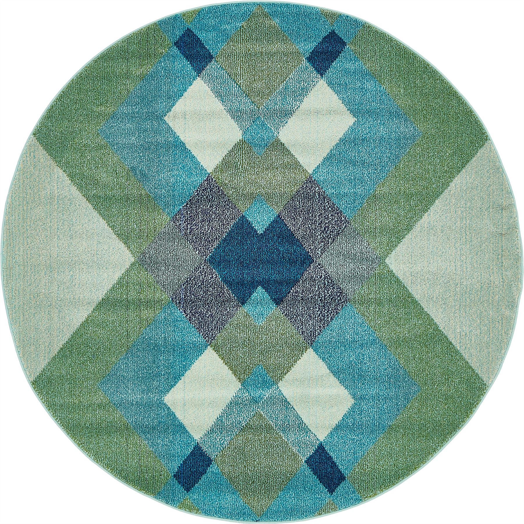 Checked Area Rugs: Fringeless Geometric Carpet Moroccan Checkered Style Rug