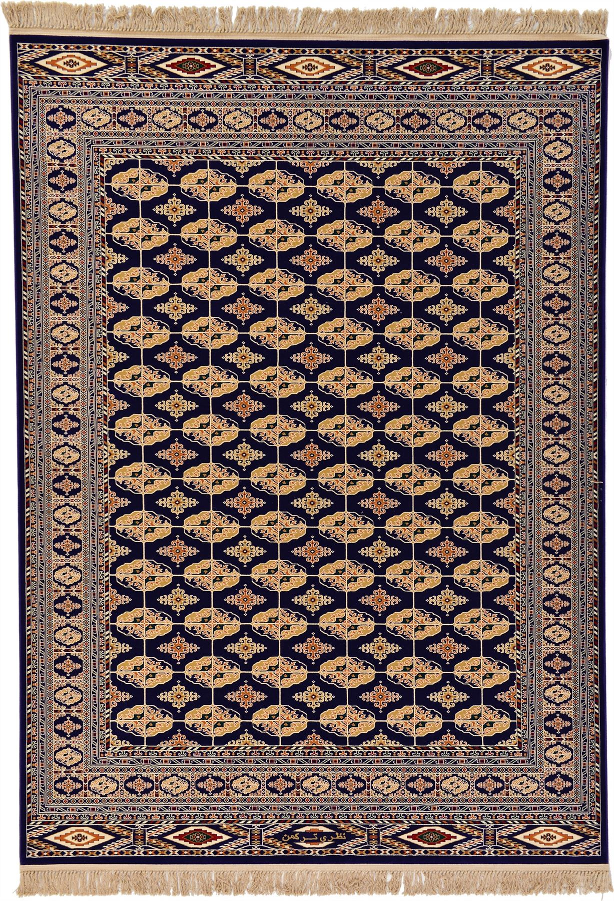 Persian design bokhara rug traditional carpet in n blue for Area rug sizes