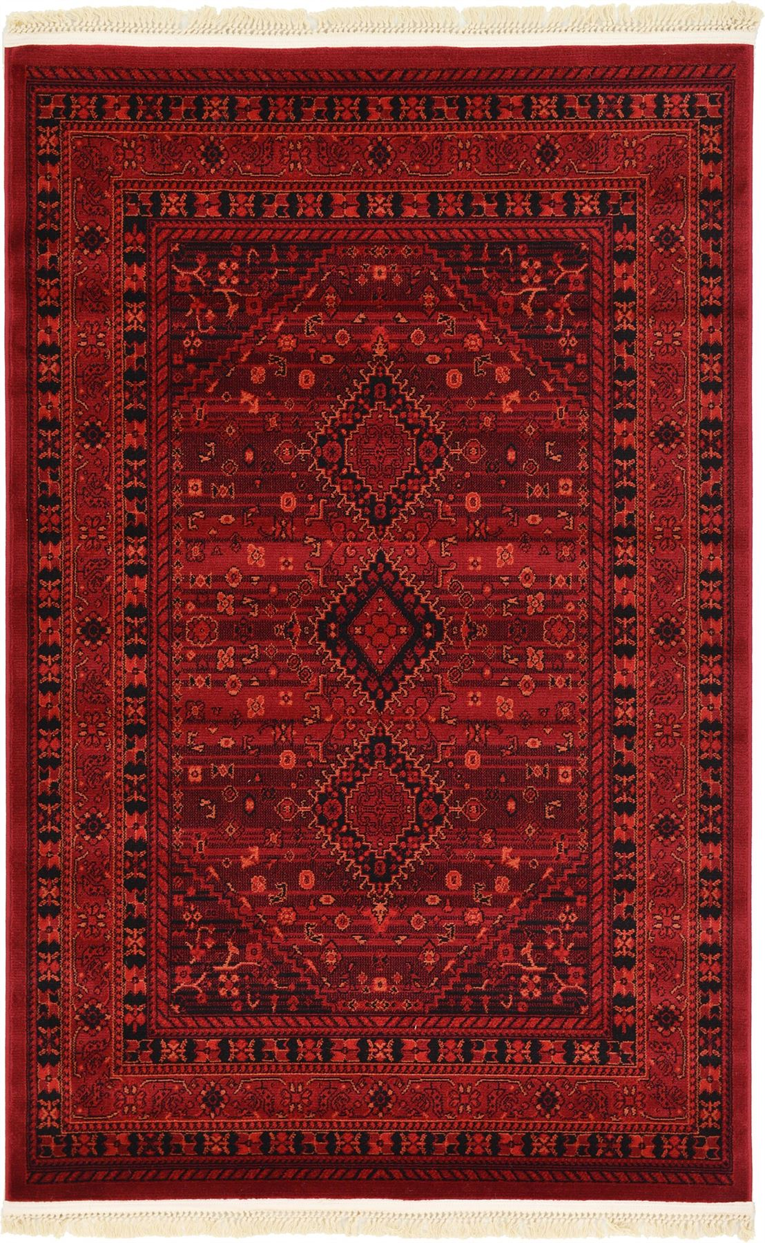 Traditional rugs persian oriental red carpets new bokhara for Area carpets and rugs