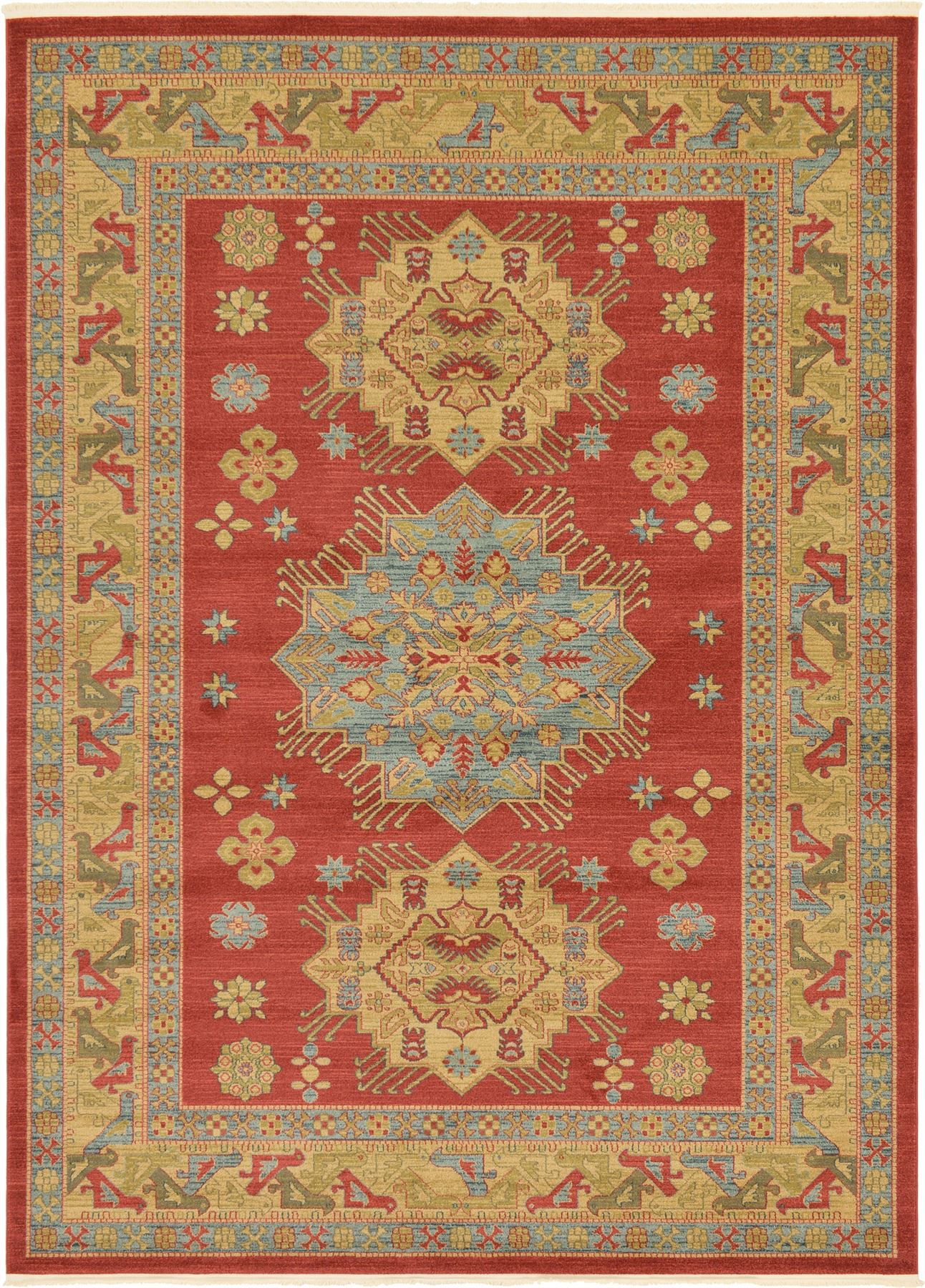 Classic rugs persian heriz design carpet traditional area for Soft area rugs
