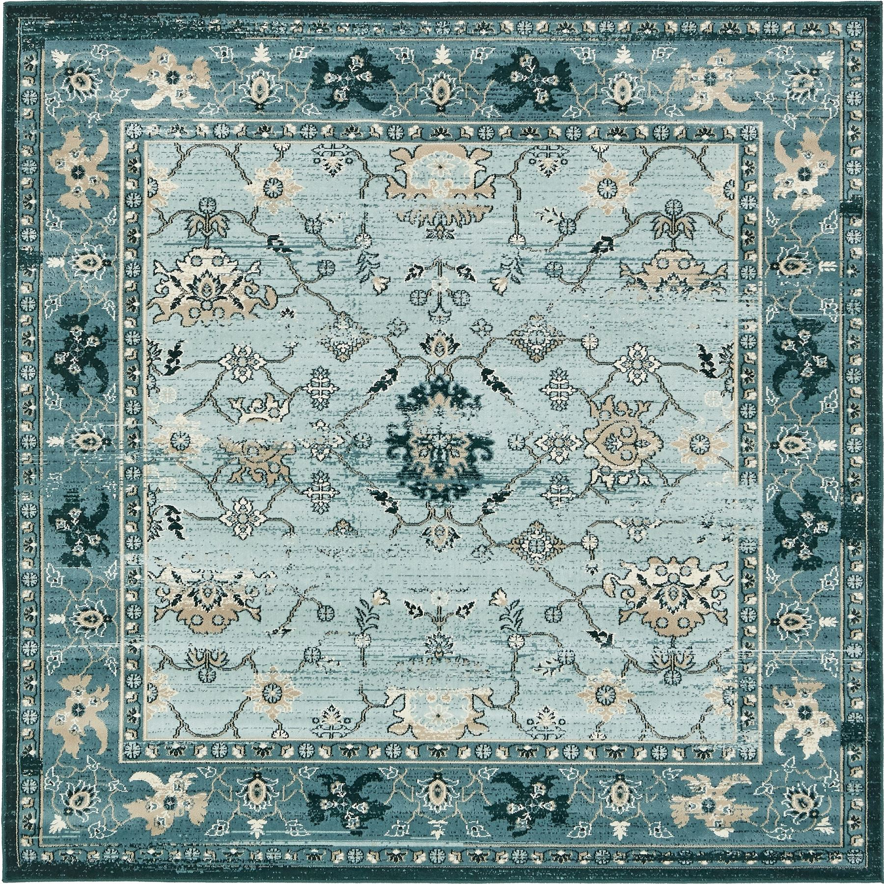 Floor Rug Area Carpet Over-dyed Vintage Style Traditional