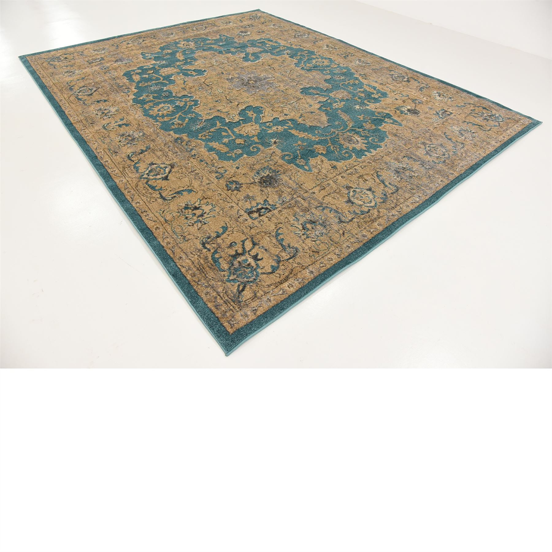 Teal 8' X 10' Oriental Carpets Modern Rugs Floor Carpet