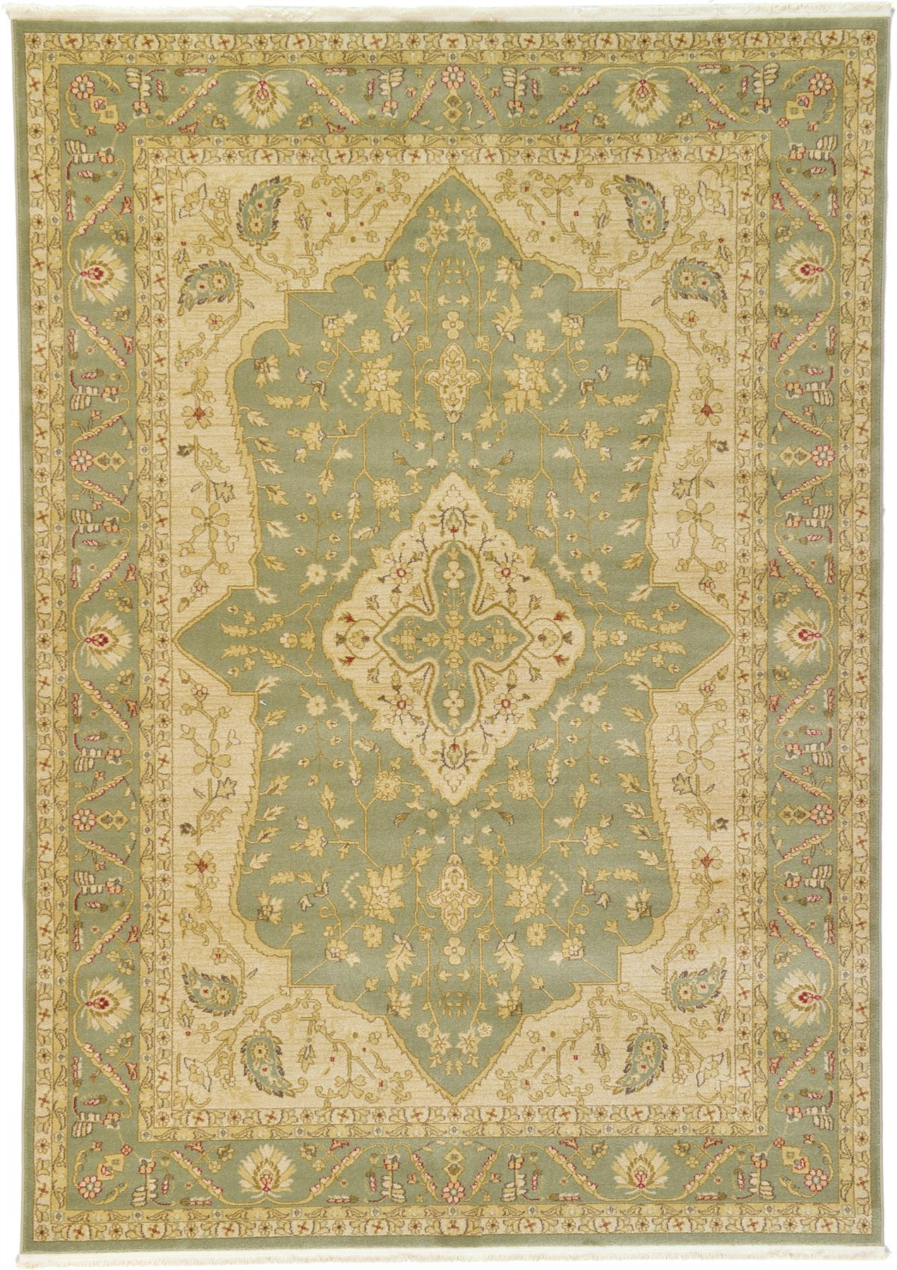 Traditional persian border area rug new oriental carpet for Soft area rugs