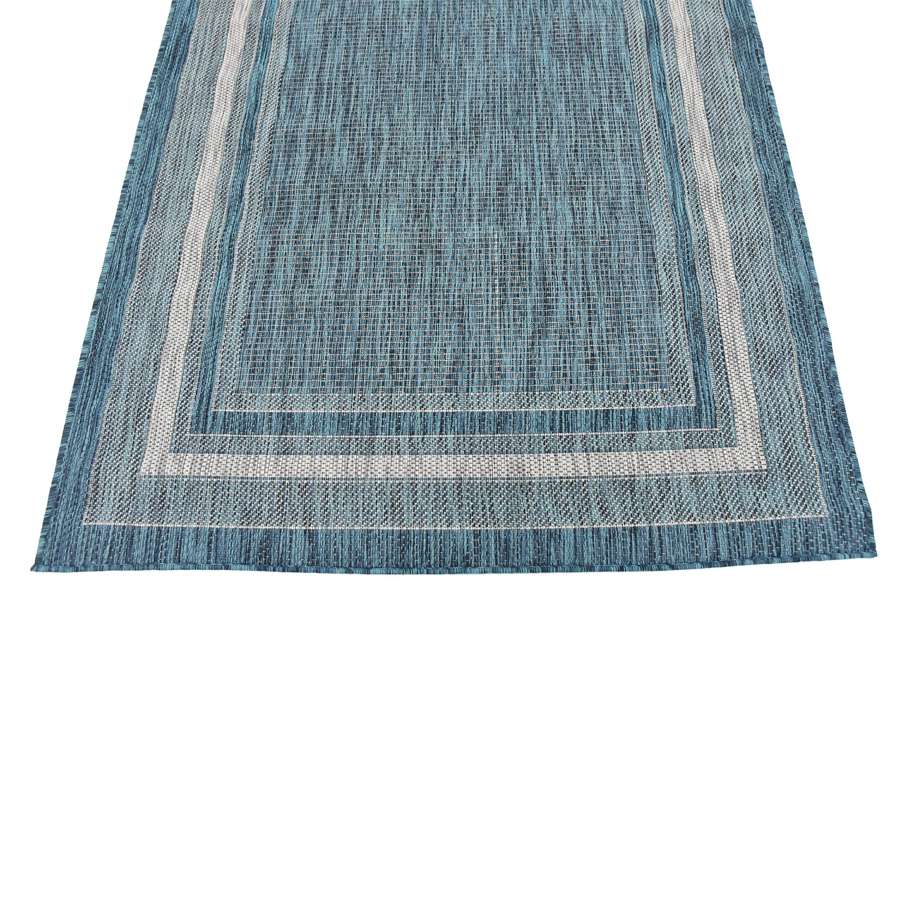 Teal 4' X 6' Outdoor Area Rugs Modern Carpets Rug