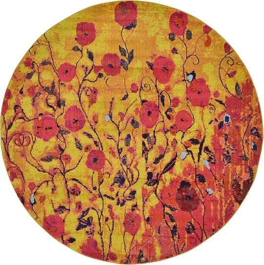 Multi color contemporary carpets modern area rug round for Round area rugs contemporary