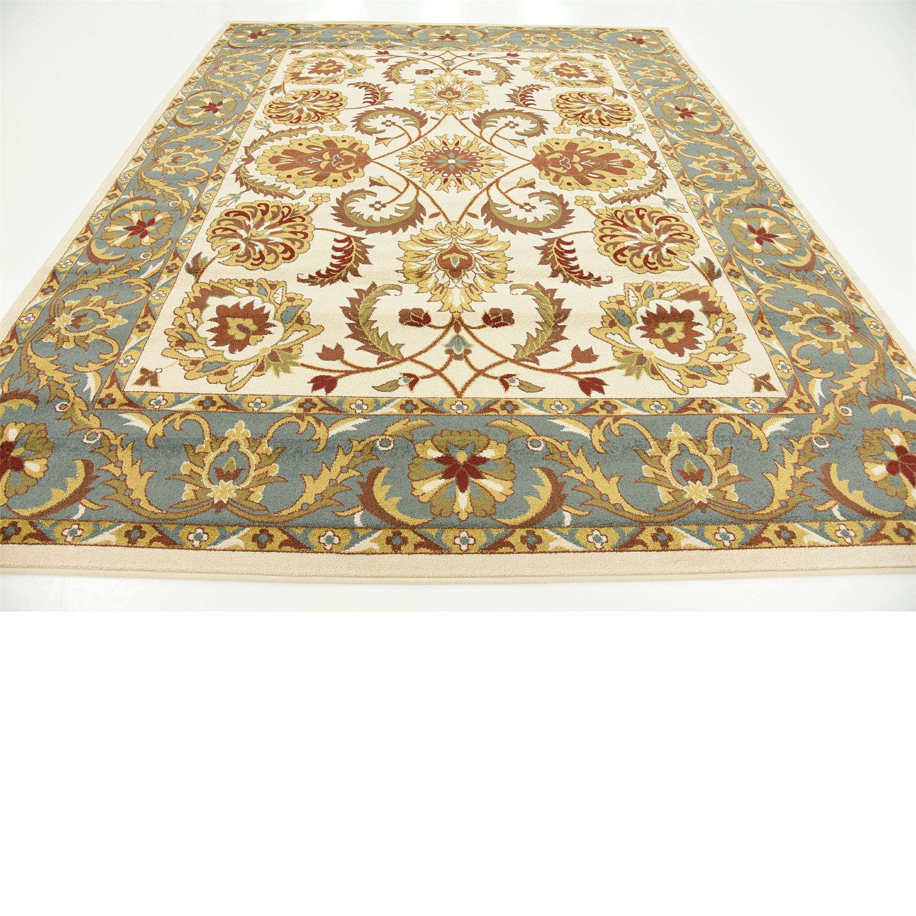 Oriental Floral Traditional Area Rugs Beige 8' X 10' Agra