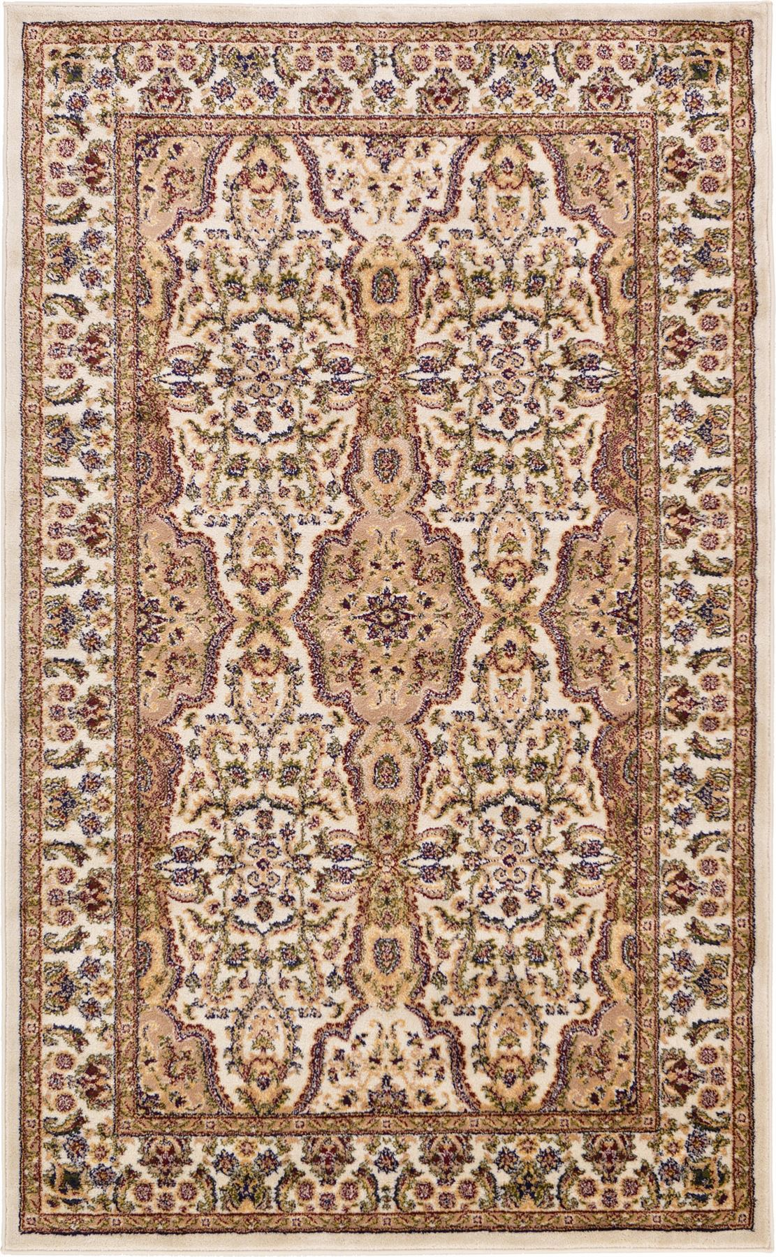 Traditional persian design rug unique carpets different for Area rug sizes