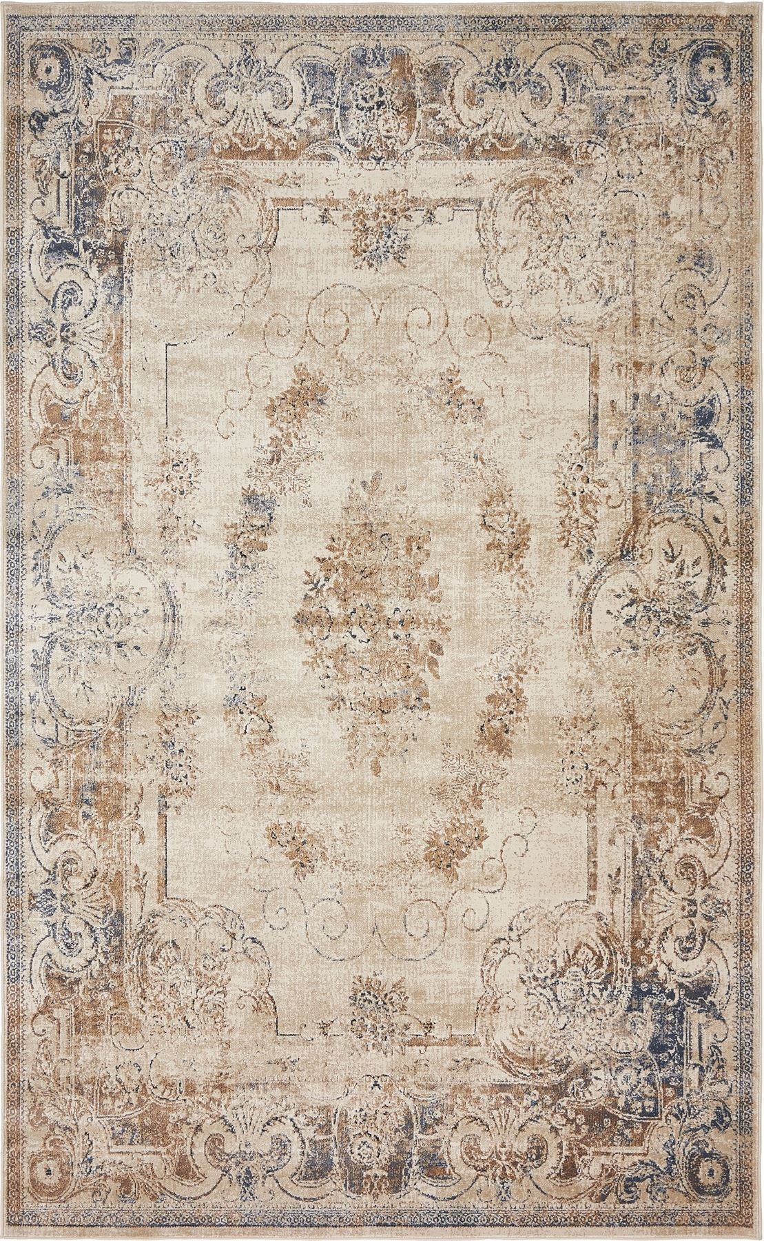 Medallion floor carpet area rug traditional carpets over for Area rugs and carpets