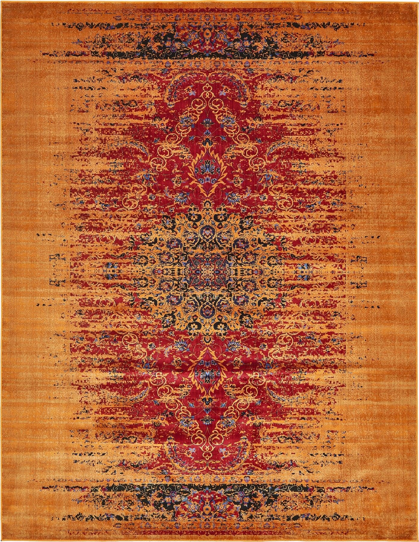 Modern Carpets Floral Style Area Carpet Floor Over dyed Rugs EBay