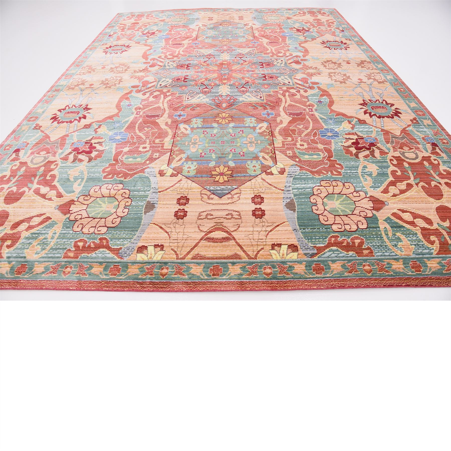 Persian style rugs traditional area rug carpet oriental for Soft area rugs