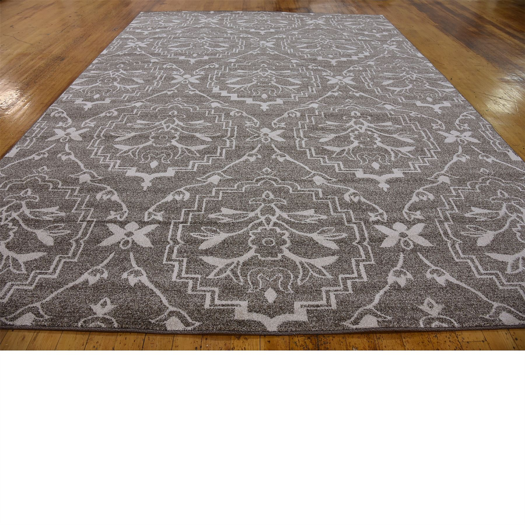 Modern damask design rugs area rug floor rug contemporary for Modern contemporary area rugs