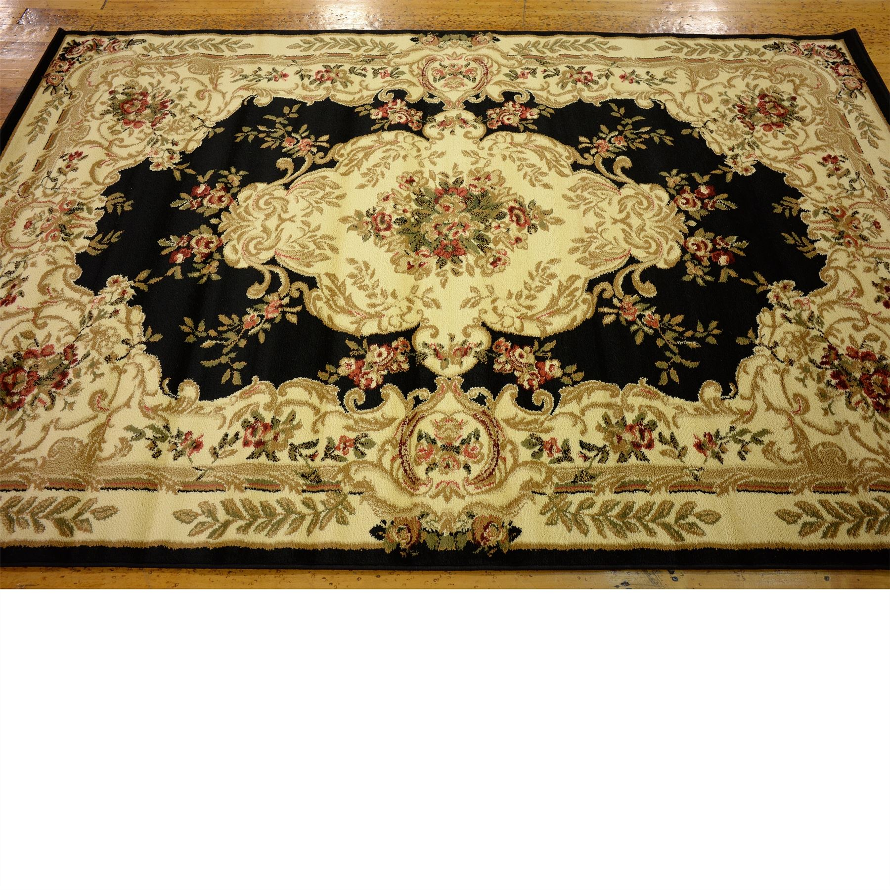 Persian Style Traditional Rugs Oriental Carpet 5'x8' Black