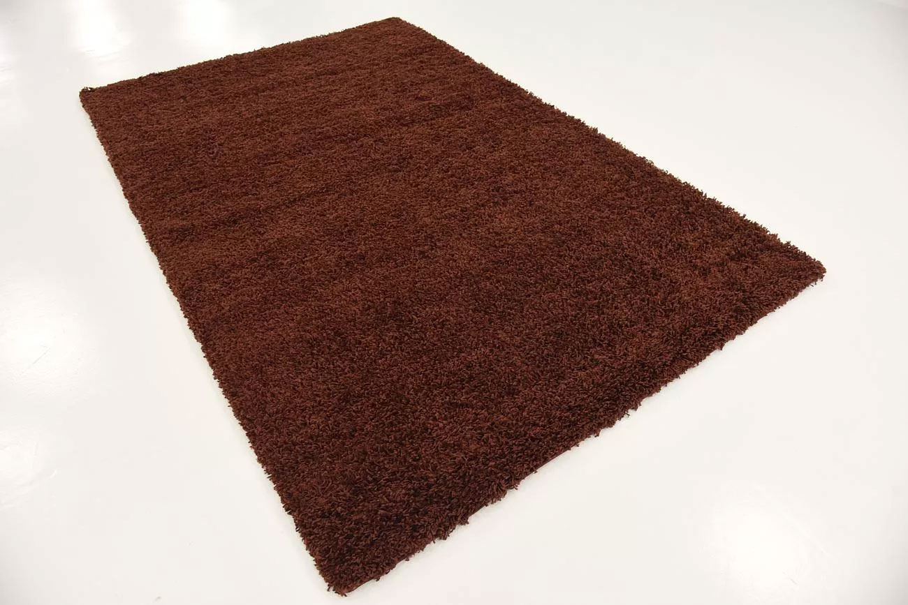 Brown shaggy soft small modern carpet warm cosy for Warm rugs