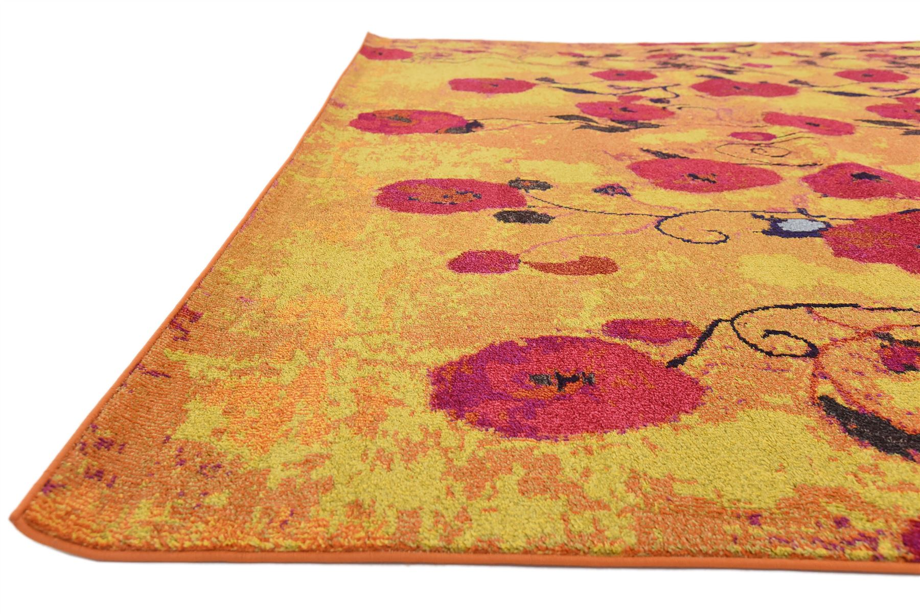 Multi color contemporary carpets modern area rug round for Round contemporary area rugs