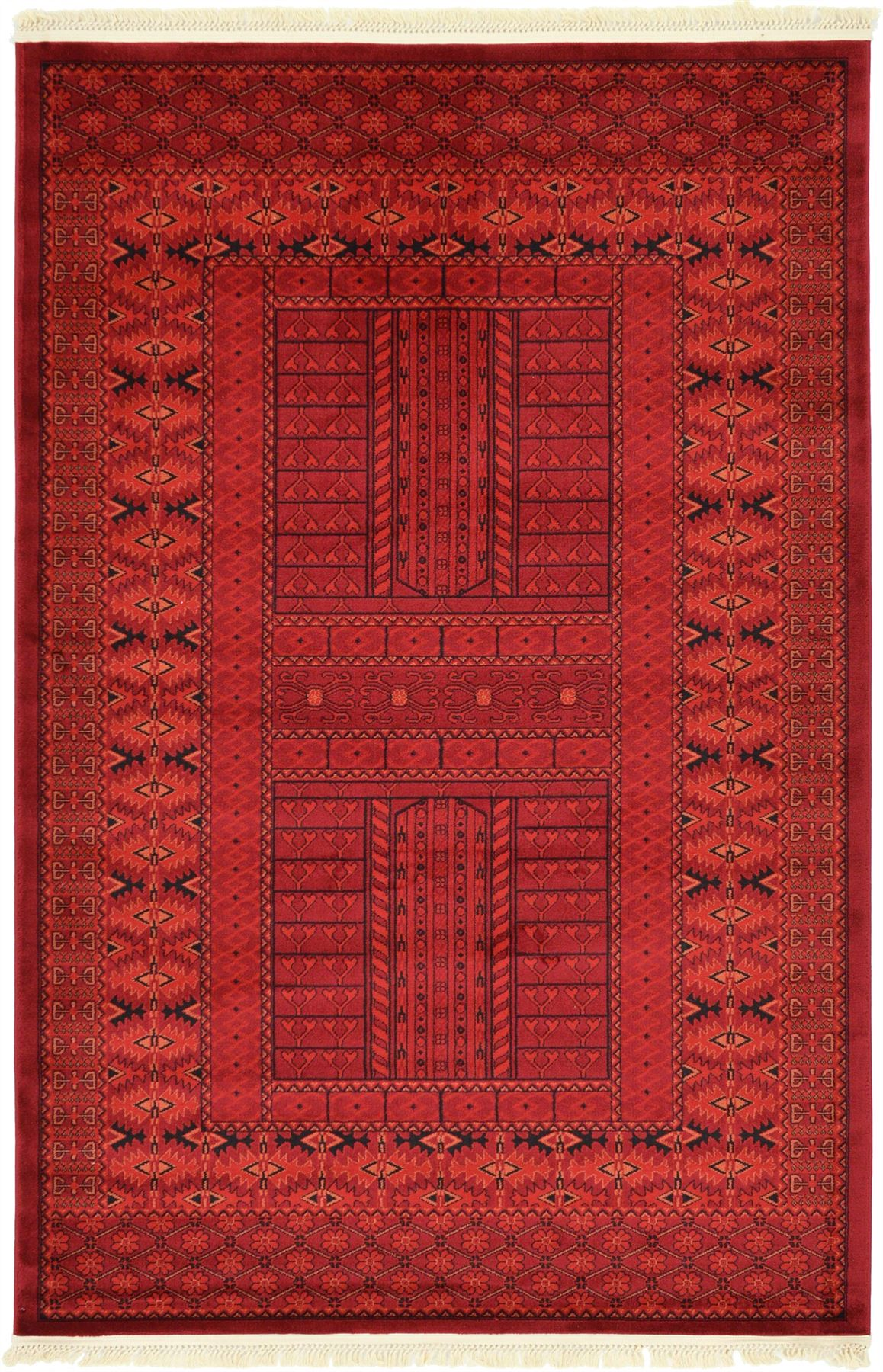 red rug persian style rugs traditional carpet in 7 sizes ebay