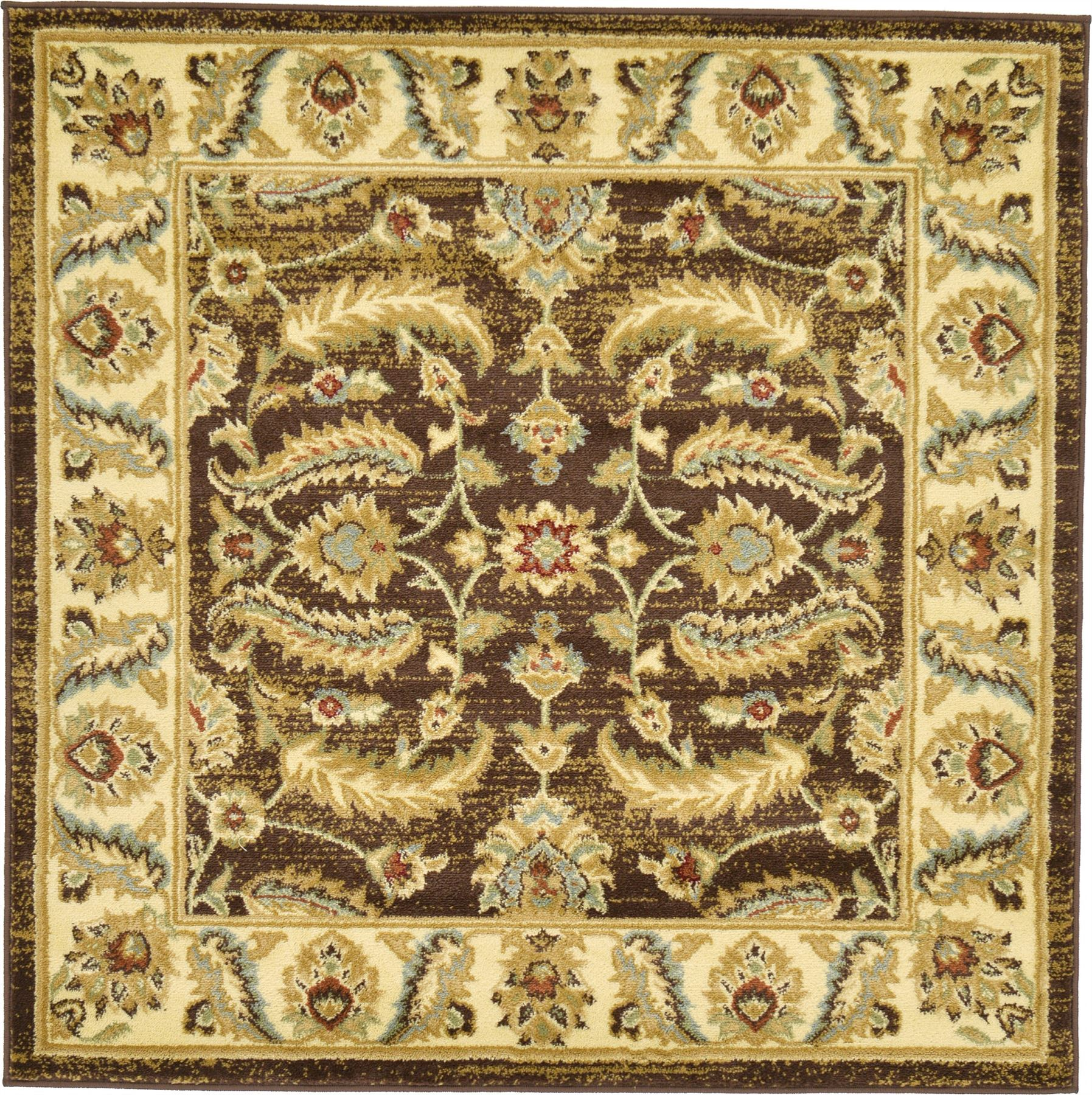 Traditional Rugs Persian Style Oriental Carpet Brown 4' X