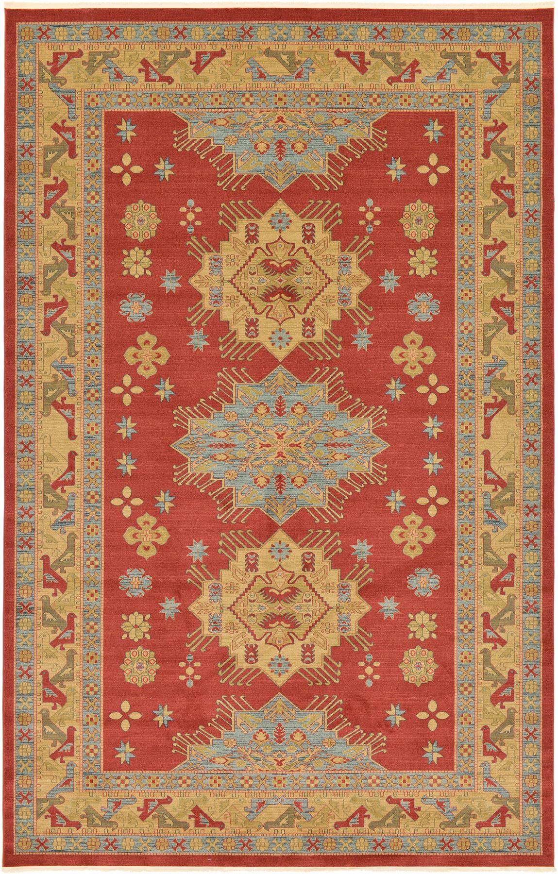 Classic Rugs Persian Heriz Design Carpet Traditional Area