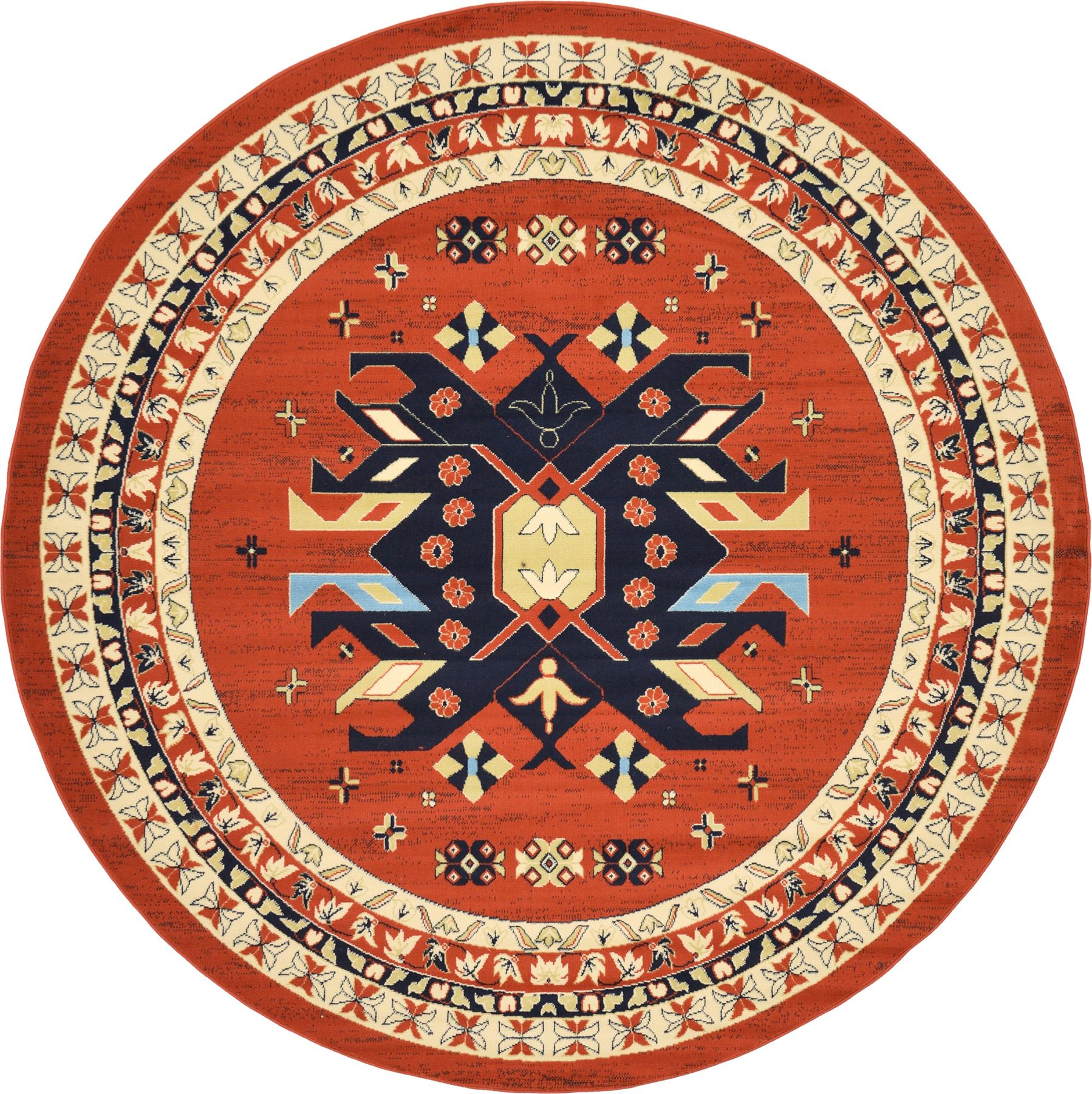 Colorful Rug Designs: Multi Color Persian Heriz Design Rug Traditional Soft
