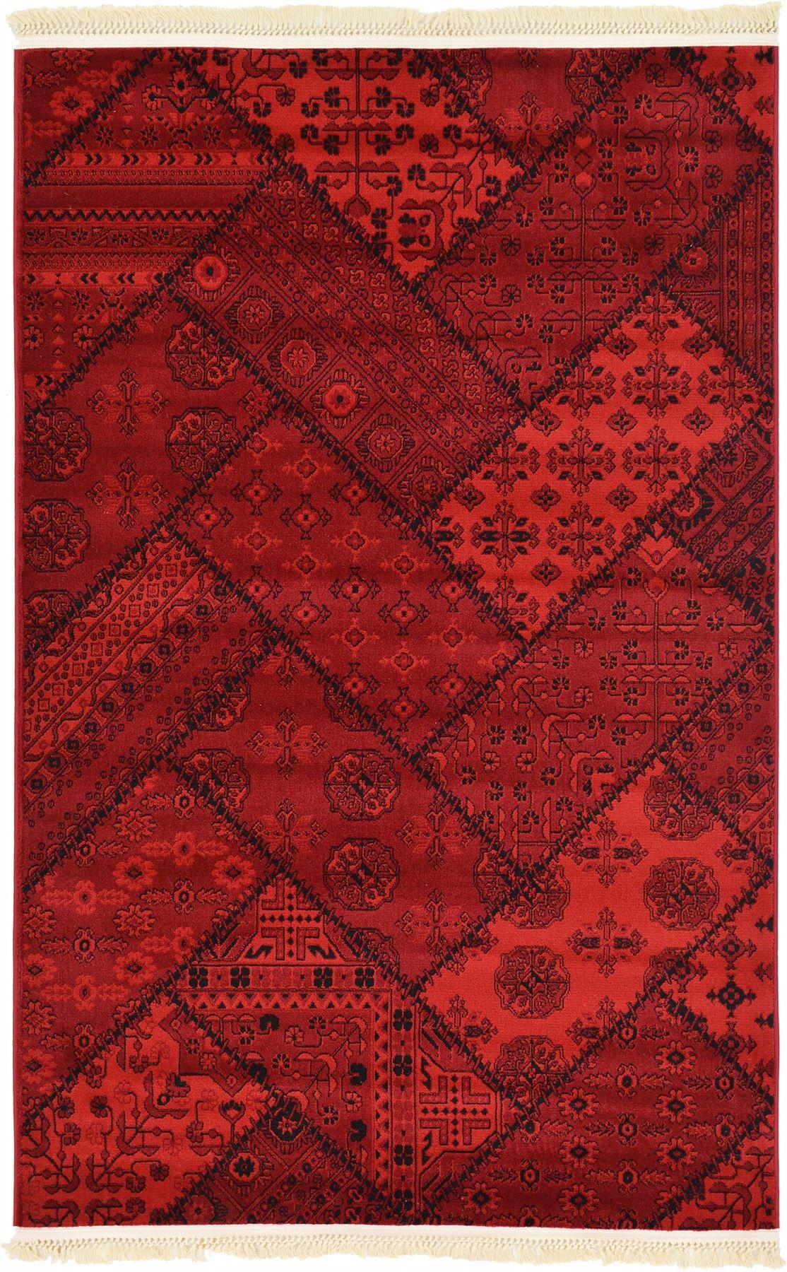 Bokhara Patchwork Design Rug Traditional Rugs Persian Carpet