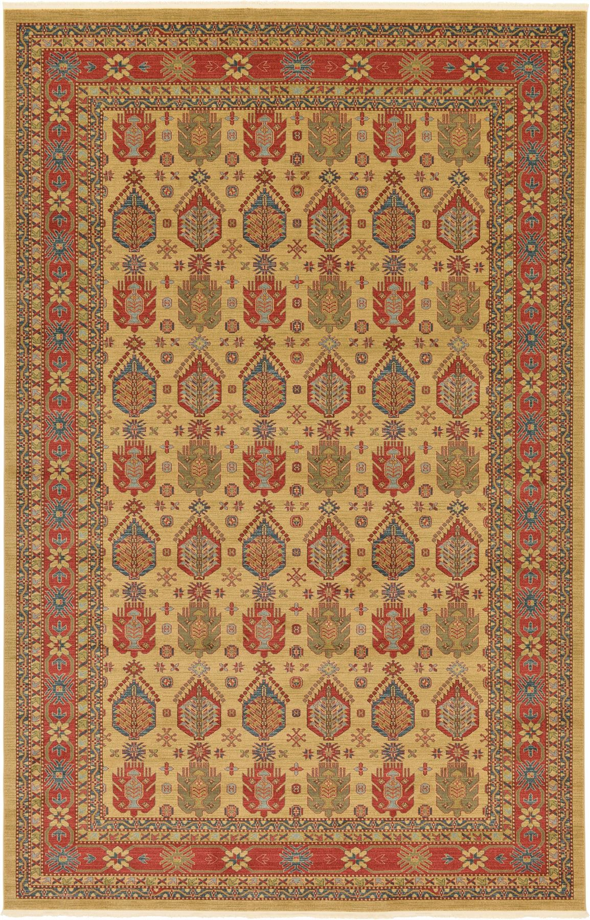 Heriz Design Rug Traditional Persian Style Rugs Clasic