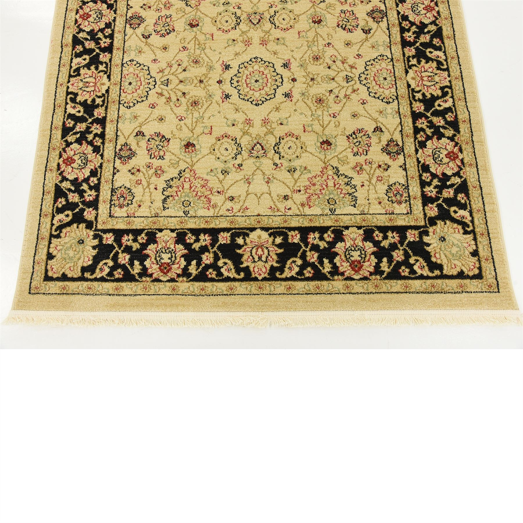 Persian Rugs From Iran: Traditional Oriental Persian Style Rugs Cream 4' X 4