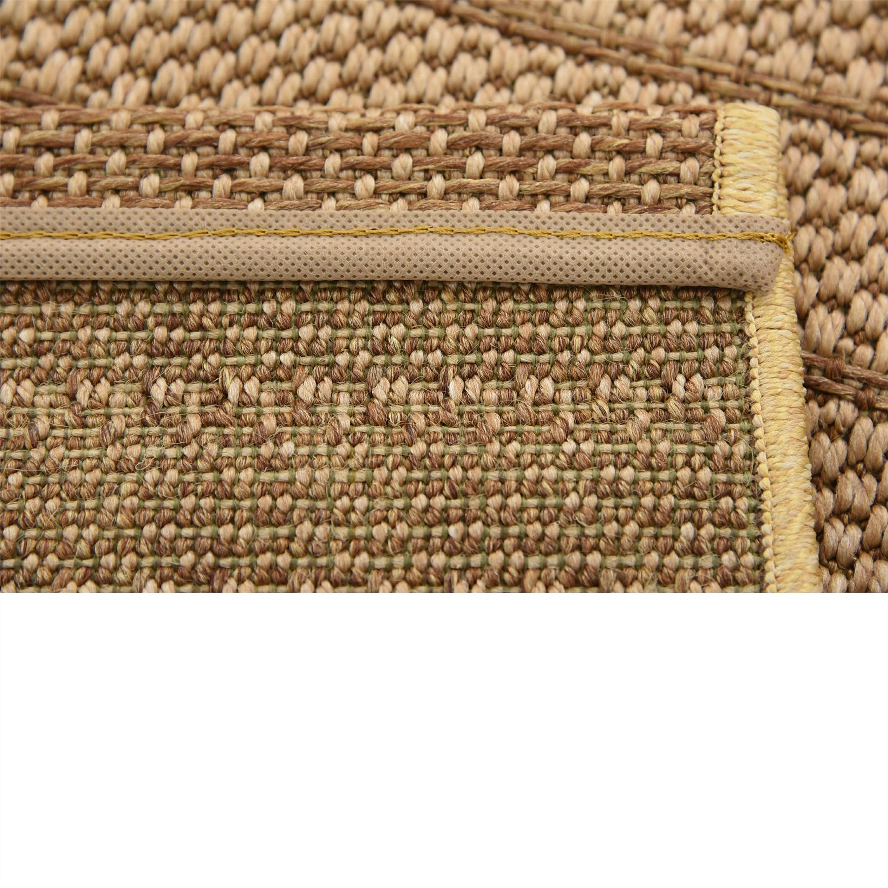 flatweave patio mat area rugs tan 2 39 x 3 39 2 outdoor rug ebay. Black Bedroom Furniture Sets. Home Design Ideas