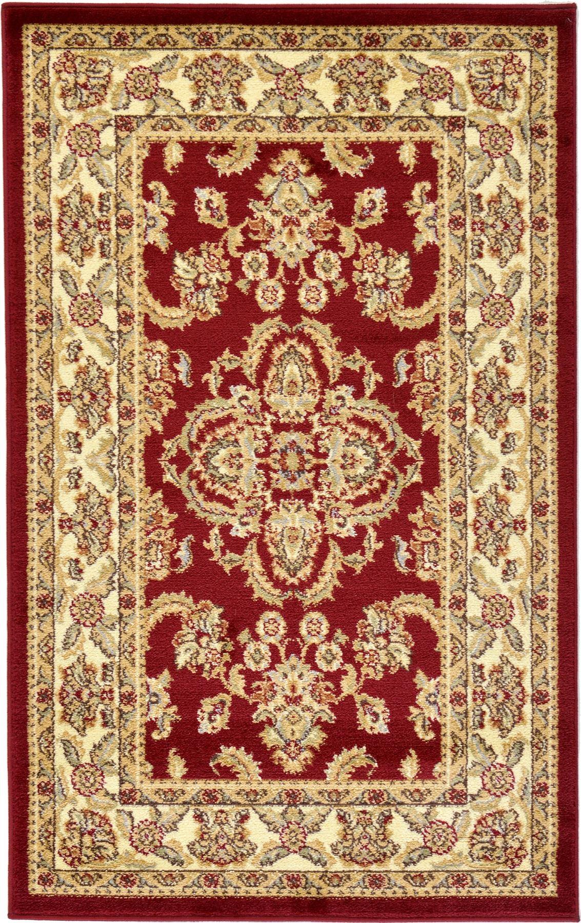 Nursery rug red : ... medallion persian area rug oriental bordered classic red rugs  ebay