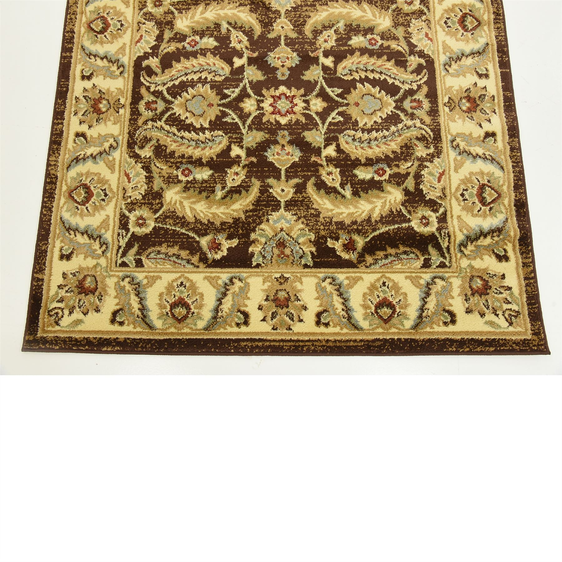 Oriental Rugs: Traditional Rugs Persian Style Oriental Carpet Brown 4' X