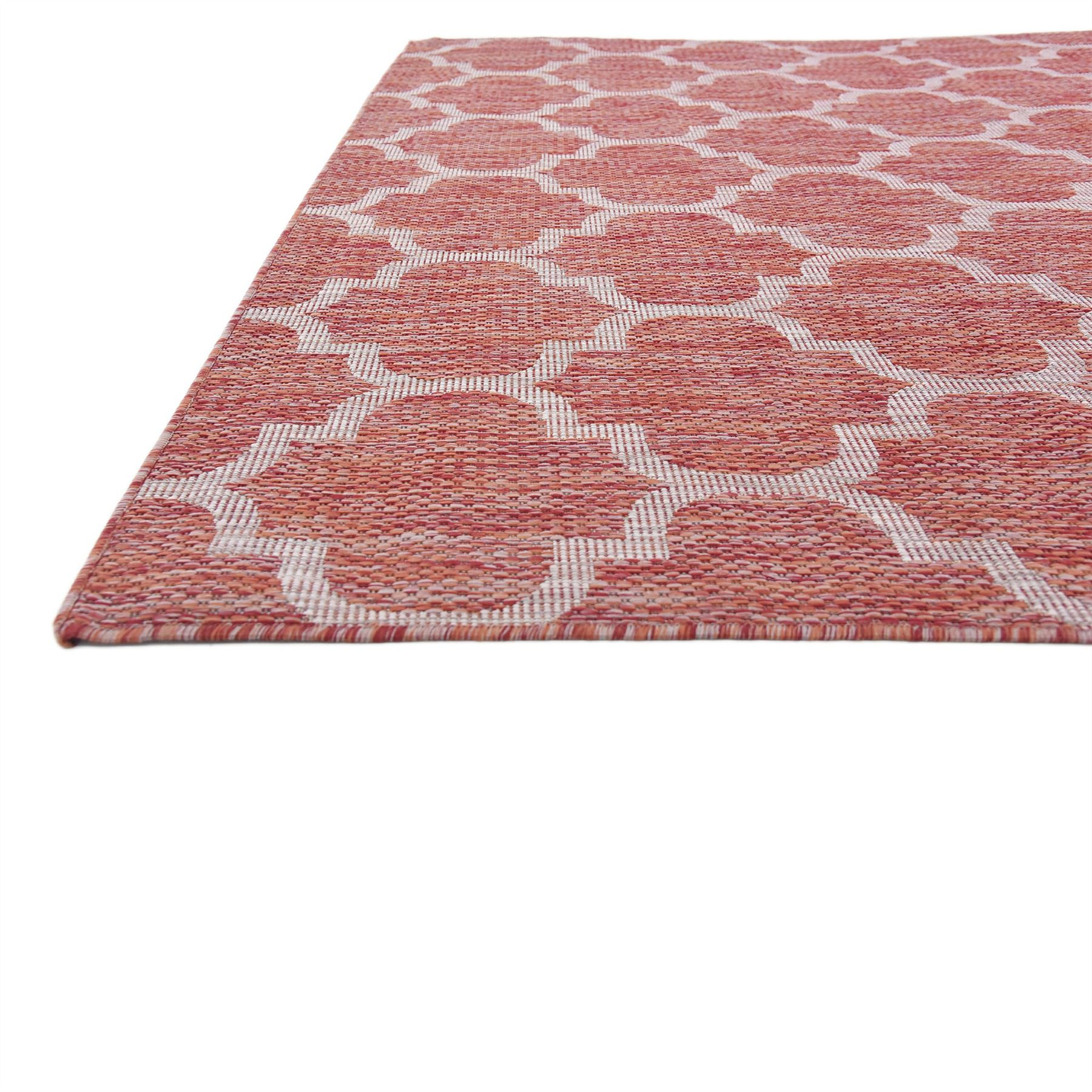 Outdoor Rug 7 X 10: 7' 0 X 10' 0 Rust Red Outdoor Trellis Area Rugs Modern