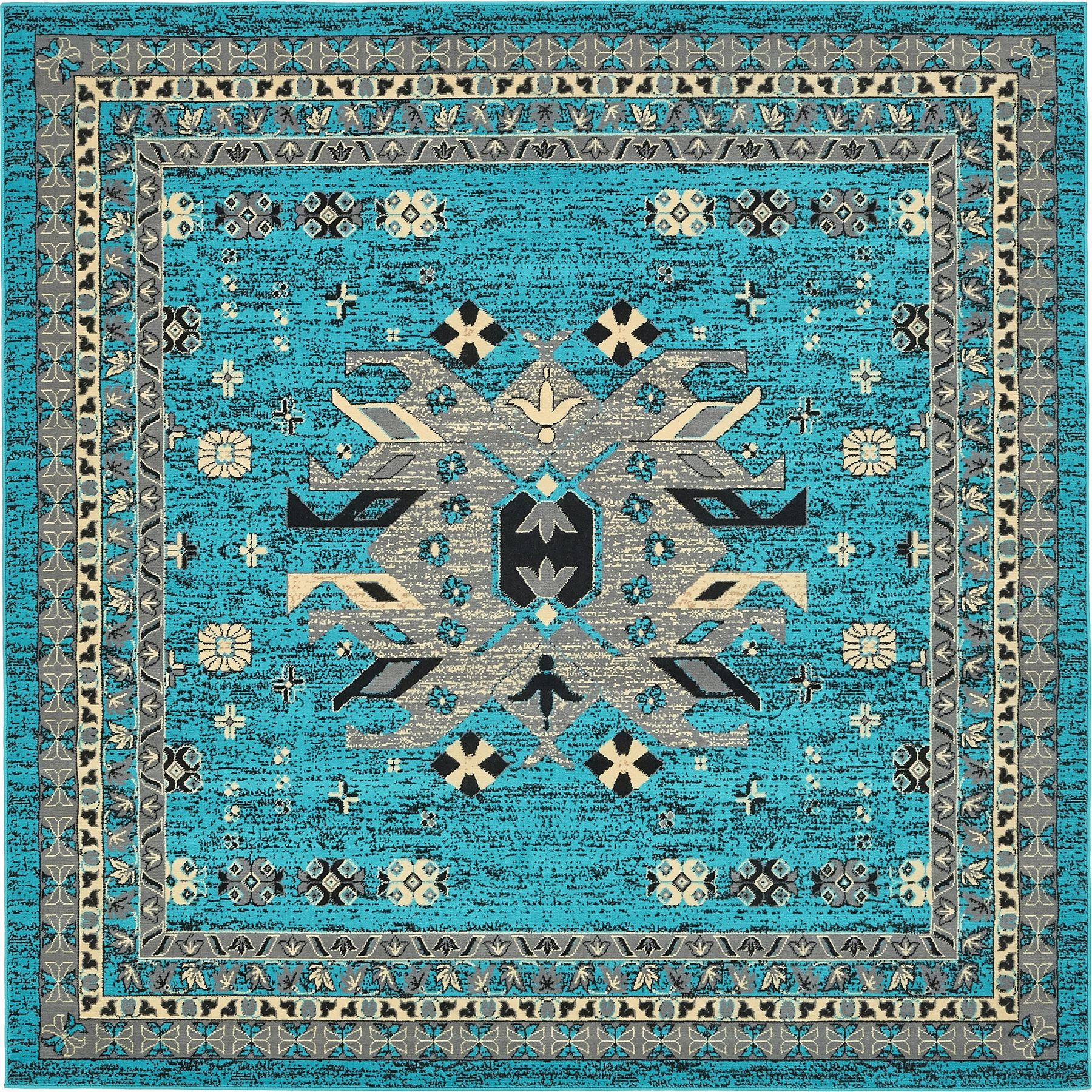 Multi Color Persian Heriz Design Rug Traditional Soft