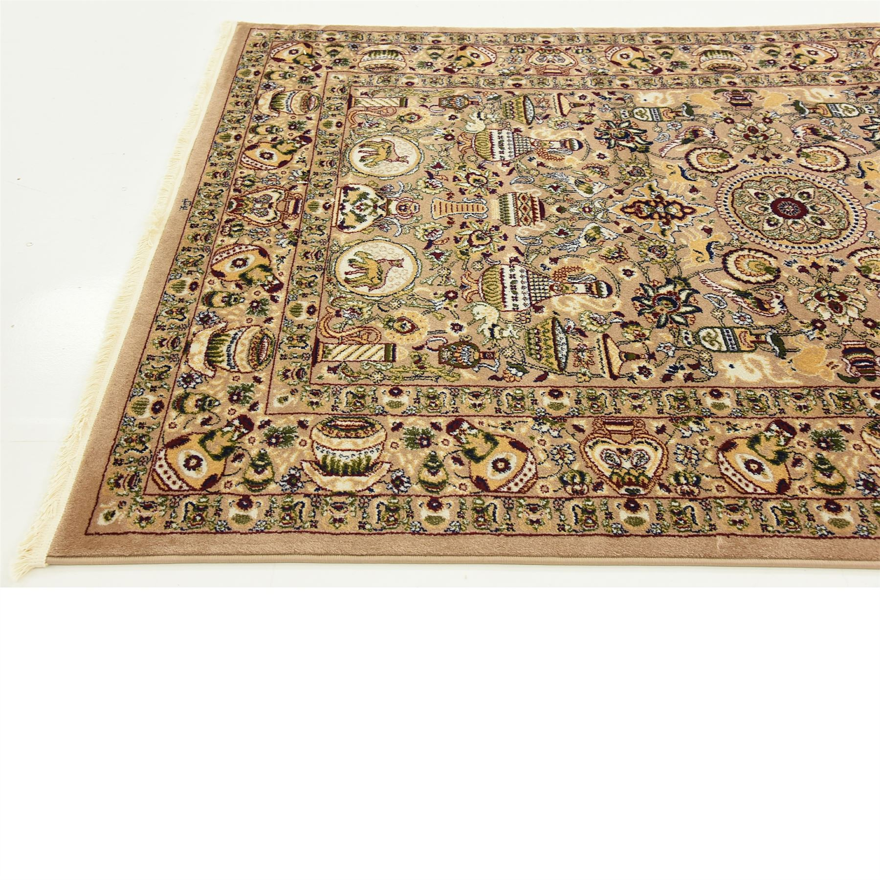 Traditional Large Persian Design Area Rug Small Vintage