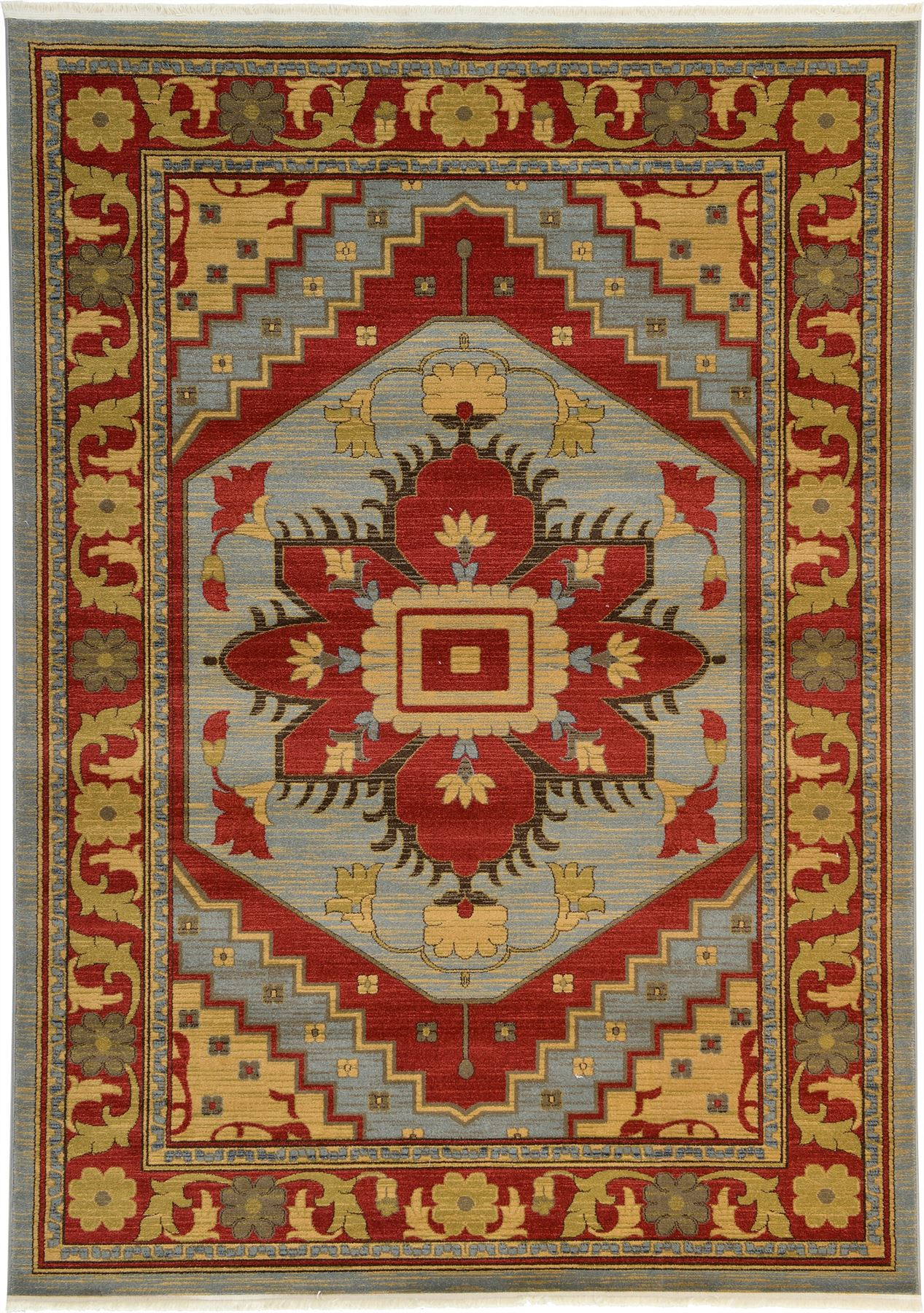 Heriz Design Rug Traditional Perisan Style Rugs Oriental