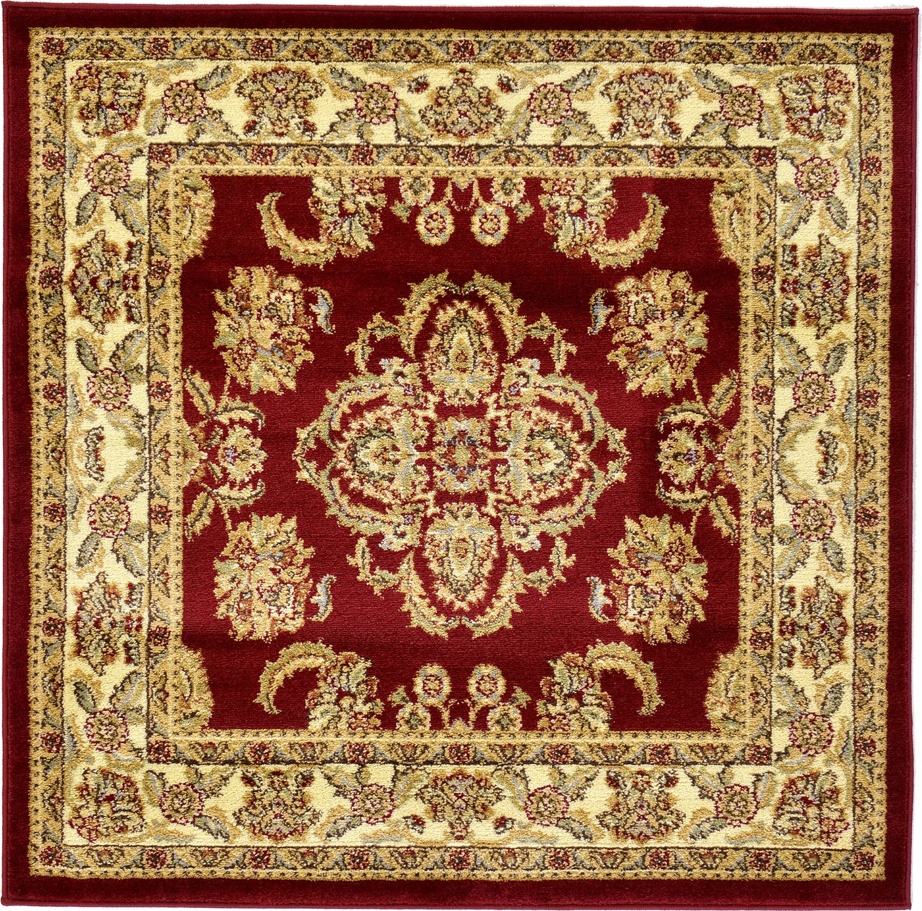 Traditional medallion persian area rug oriental bordered for Area carpets and rugs