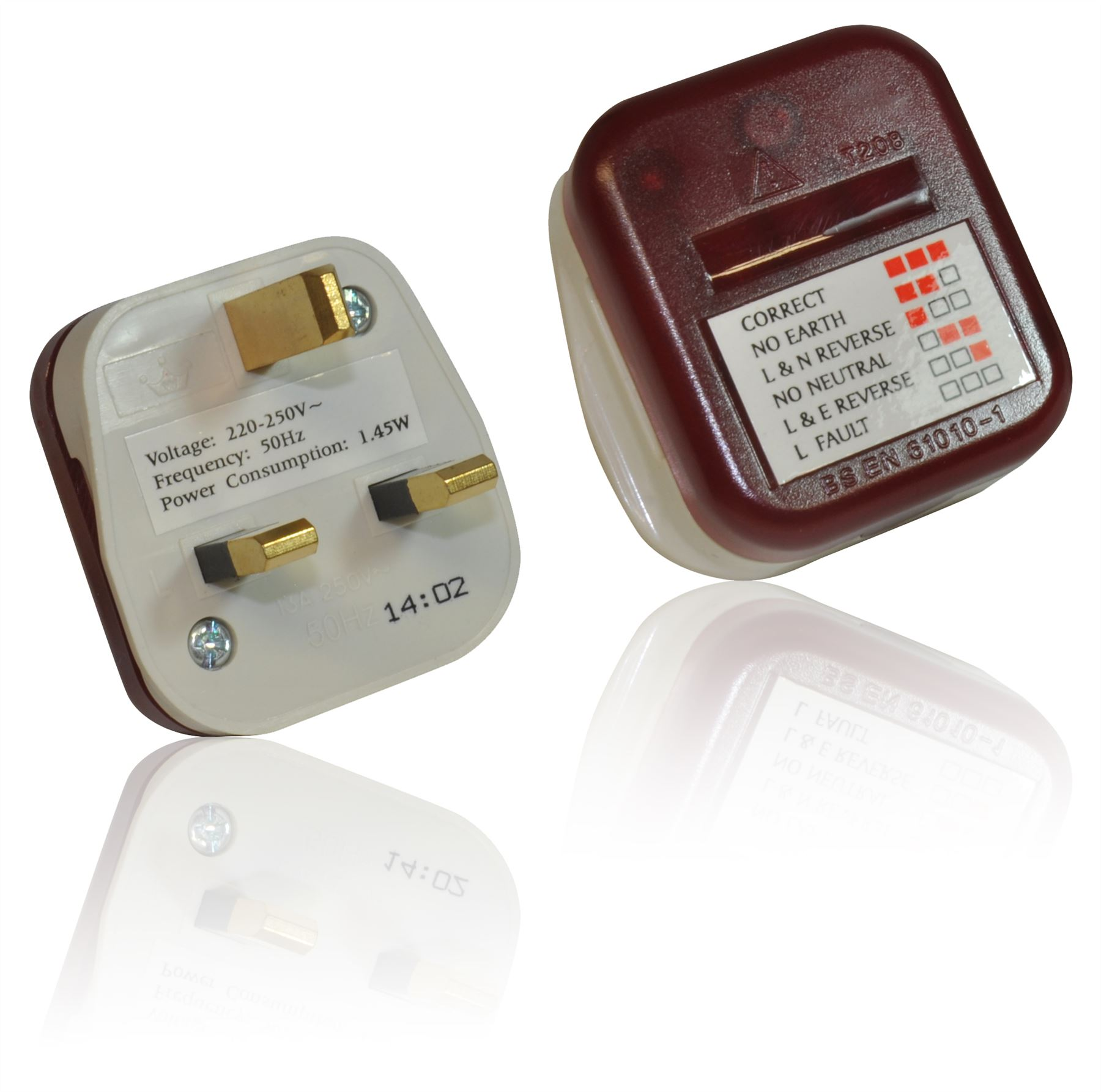 Electrical Socket Tester : Uk mains electrical power plug in socket tester test