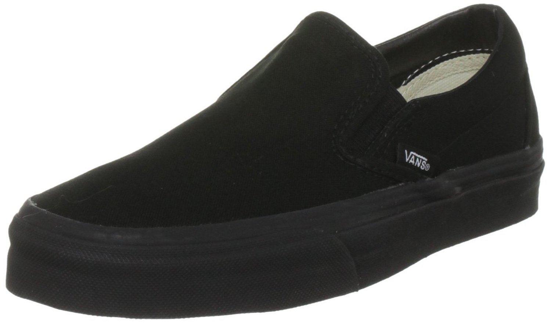 Vans Classic Black Canvas Unisex Slip-on Trainers shoes