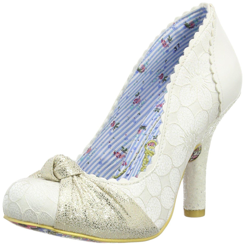 Irregular Choice Smartie Pants Cream Womens Hi Heels Shoes
