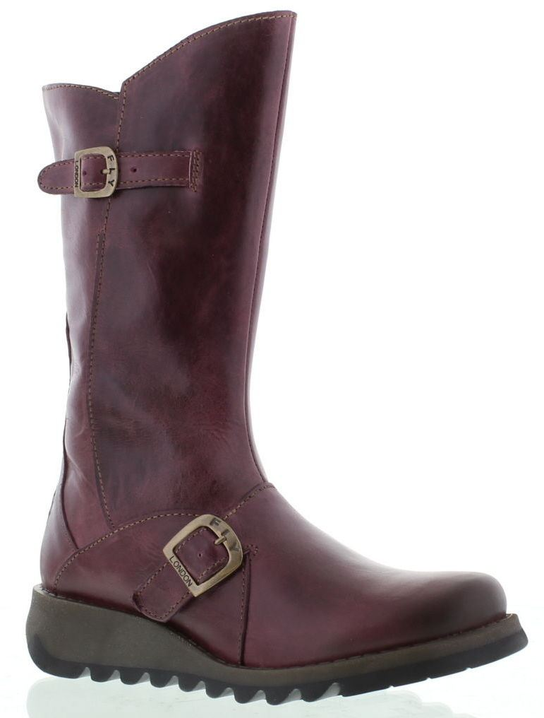 Fly london Damens Mes 2 Lila Leder Damens london Mid Calf Stiefel 4f614a