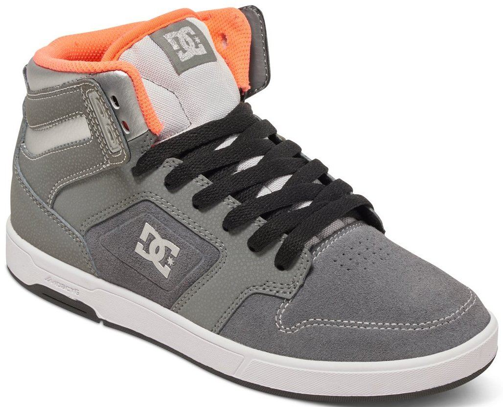 DC Argosy High SE Grey Orange Leather Womens Hi Skate Trainers